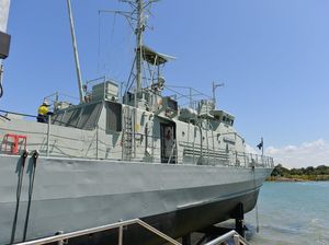 PHOTOS: HMAS Gladstone rewired, almost ready for public