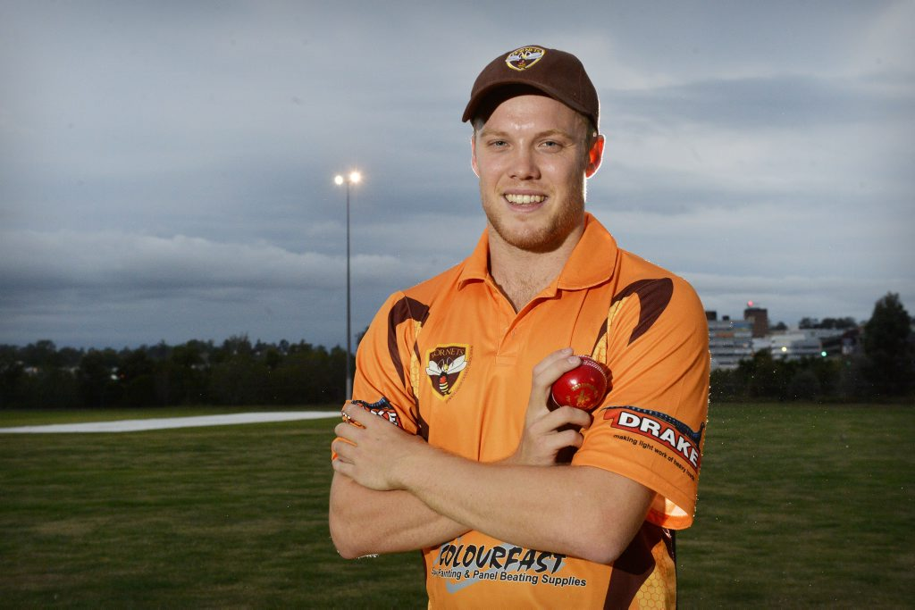 MOTIVATED: Matthew Dunn has arrived in Ipswich to help the Hornets and further his own cricketing ambitions.