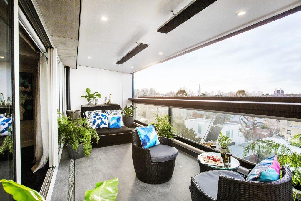 Luke and Ebony's terrace.