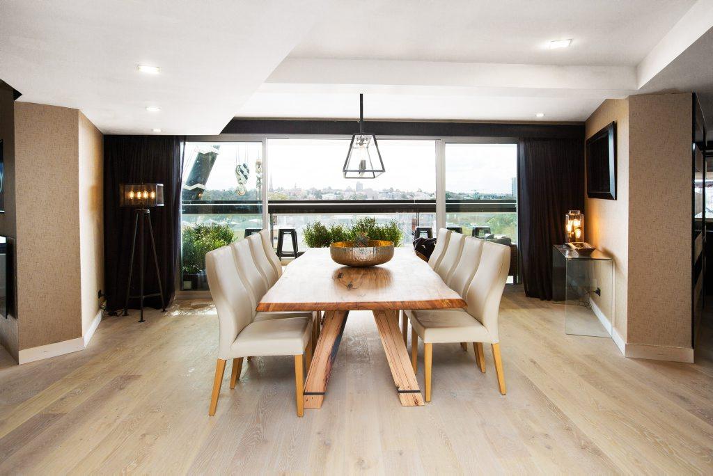 Suzi and Vonni's reconfigured dining room.