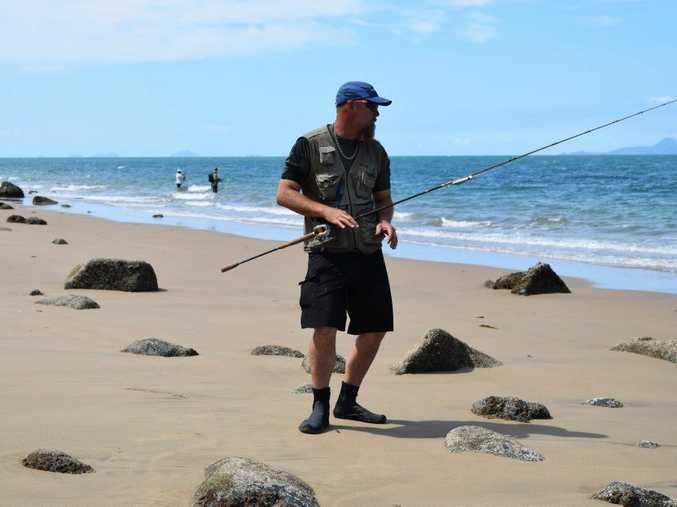 Arran Fletcher at Blacks Beach where he said he spotted a 5 metre crocodile.