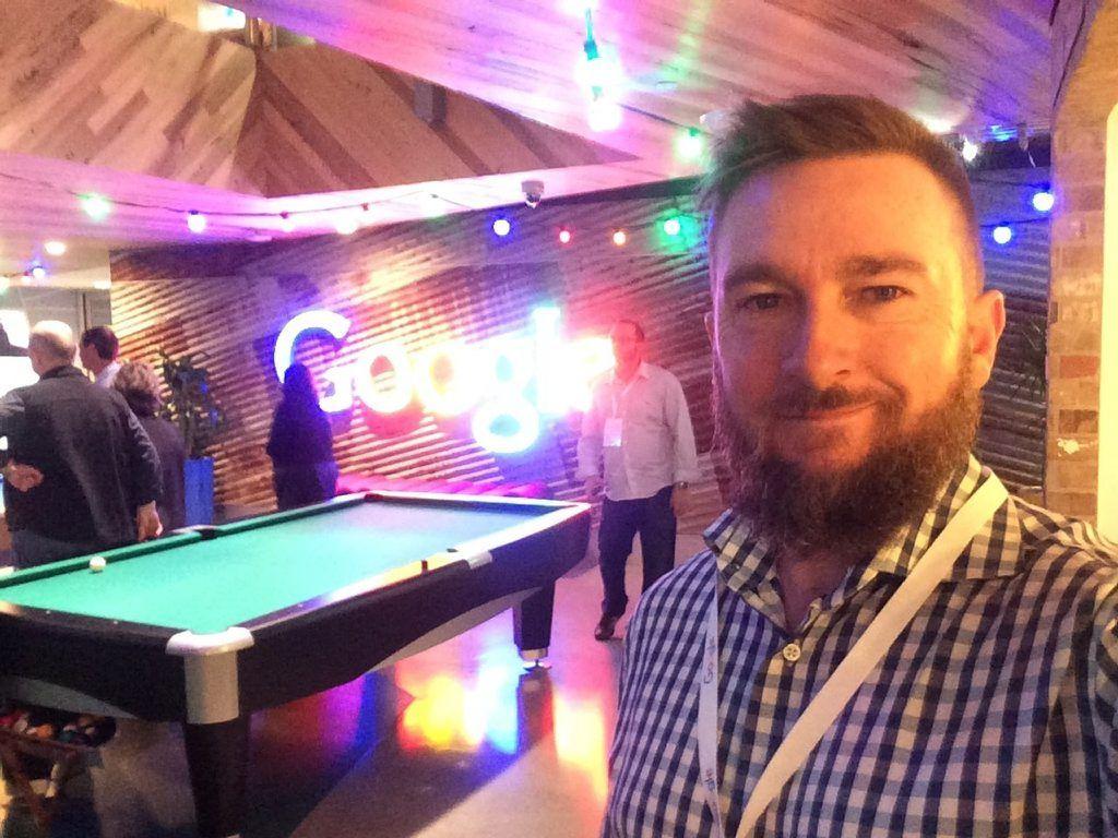Dalby man Brendan McDonald got a rare glimpse into the workplace of Australia's Google employees. Photo Contributed