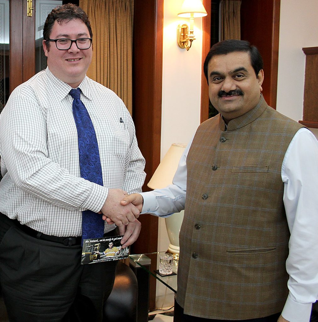 Dawson MP George Christensen with Adani Group chairman Gautam Adani.