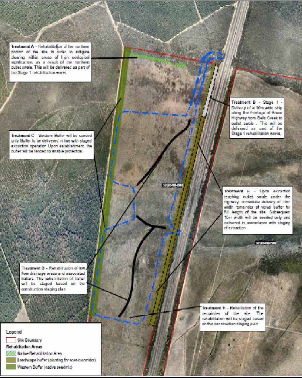 DIGGING IN: An aerial map details developer Stockland's plans for the 30-hectare excavation site.