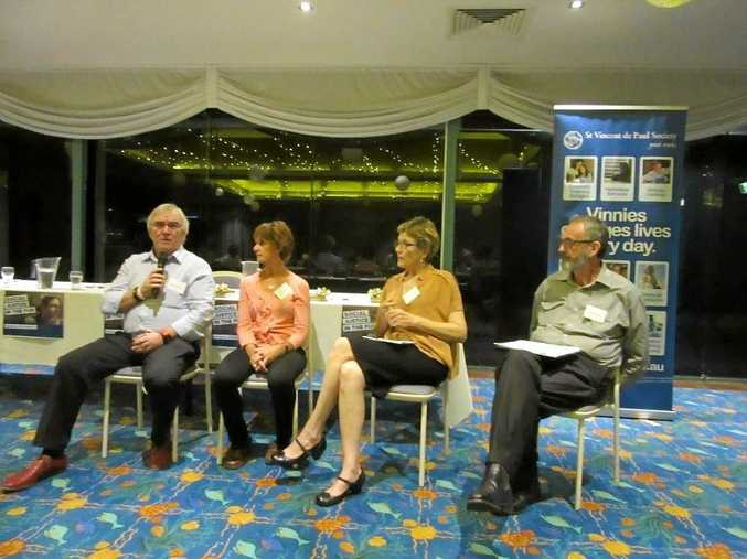 The panel at a Kingscliff forum which discussed the region's affordable housing crisis.
