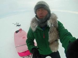 'Breast sled' extreme adventurer on Sunshine Coast