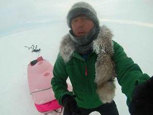 'Breast sled' extreme adventurer on Sunshine Coast