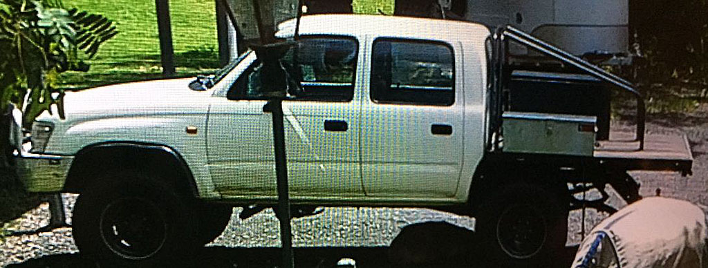 David Gannon was last seen driving a 1998 white Toyota Hilux with Queensland registration 061-SPW.