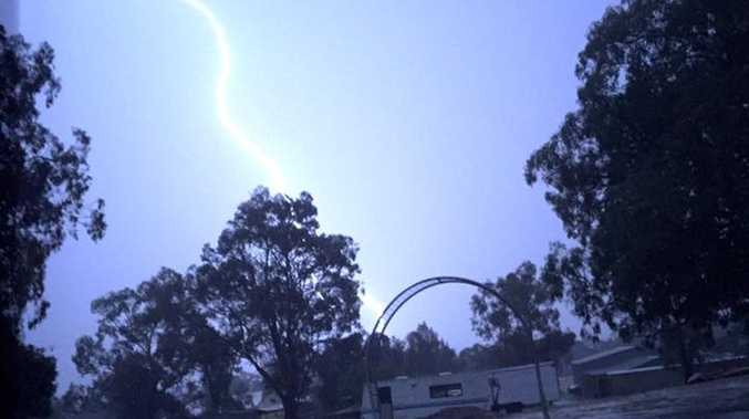 Helena Moore shared this photo of a lightning strike during last night's storms.