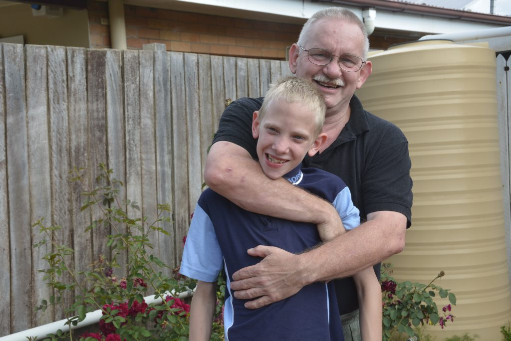 BETTER RELATIONSHIP: Stephen Hadwin enjoys a better relationship with his son Jacen after taking part in the My Time For Men program. Photo Kate Dodd / The Chronicle