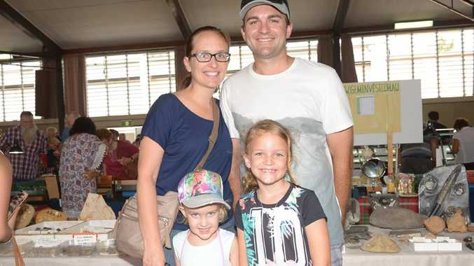 FAMILY OUTING: Jocelyn, Aaron, Jalah and Indee Bakker visit the Civic Centre Gem fair. Photo: Paul Donaldson / NewsMail