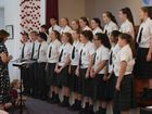 The Scots PGC College senior choir performed at the Anzac centenary concert on Saturday.