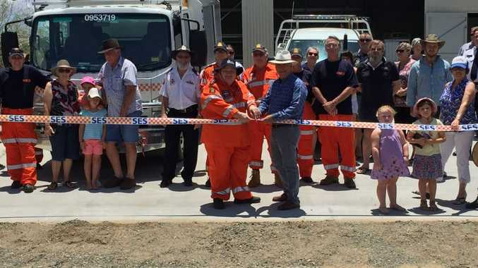 Marlborough SES open new shed with Livingstone Mayor Bill Ludwig