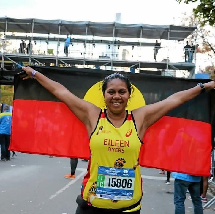 PROUD: Bundjalung woman Eileen Byers completed the New York Marathon on November 1.