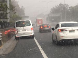 Dangerous thunderstorm drops hail the size of tennis balls