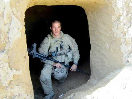 Sapper David Wood while on his second tour of Afghanistan in 2012. Photo Contributed