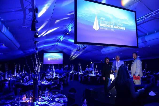 Sunshine Coast Business Awards. (from left) Photo: Che Chapman / Sunshine Coast Daily