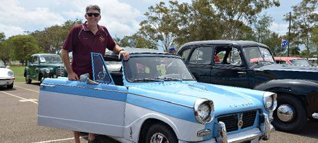 EARLY SPORTS CARS: Gary Chandler with his 1959 Triumph Herald.