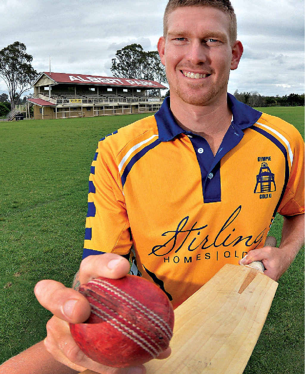 Josh Brady scored 120 runs during Gympie's innings and took 4/12 against Nambour on Saturday at Albert Park.