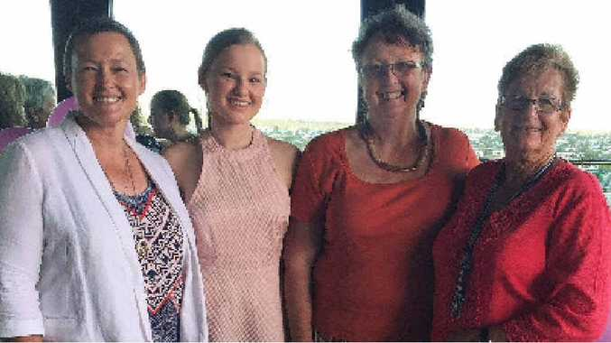 FAMILY SUPPORT: Kerrie Lang, Maddie Lang and Maddie's grandmothers'Denise Goltz and Leone Lang.