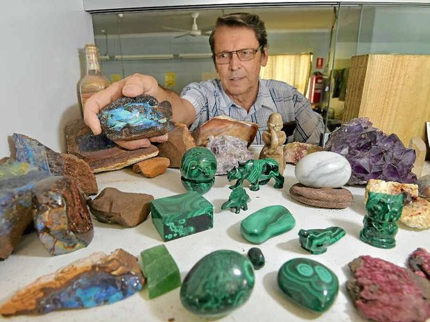 GEM OF AN IDEA: Suncoast Gem and Fossicking Club is presenting its 28th annual Gem Show on November 21 at the Mooloolaba State School. Pictured is Denis King at last year's display.