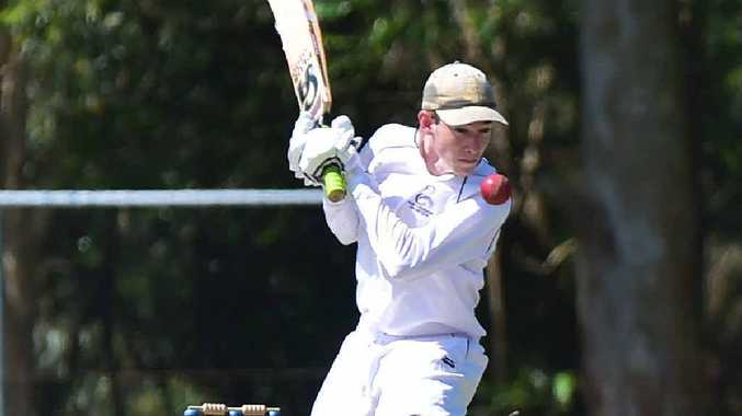 LOOK OUT: Maroochydore batsmen Luke McInnes is confronted by a short ball from Glasshouse medium pacer Bryce Smith.