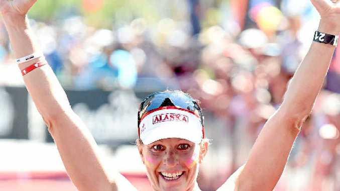 LEFT: Caroline Steffen wins.