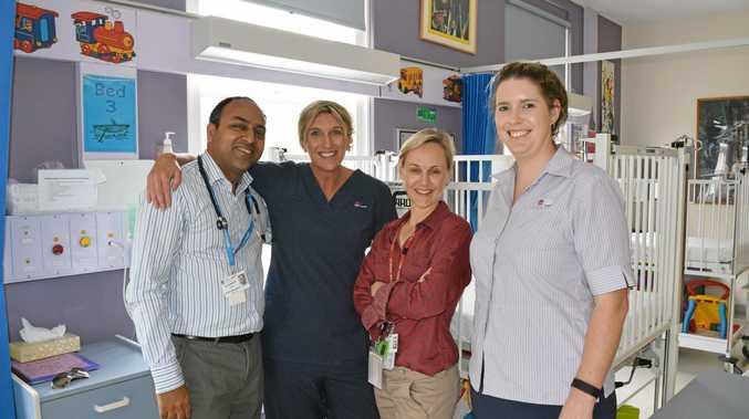 HEALTHY START: Dr Sanjeev Gupta, Simone Hargreaves, Dr Annelise Thurton and Rachael Debnam.