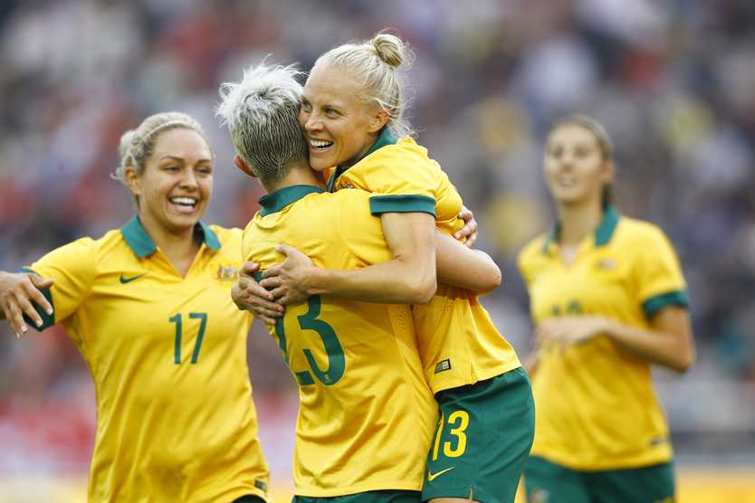 The Matildas will benefit from the new Collective Bargaining Agreement. Photo: Getty Images.