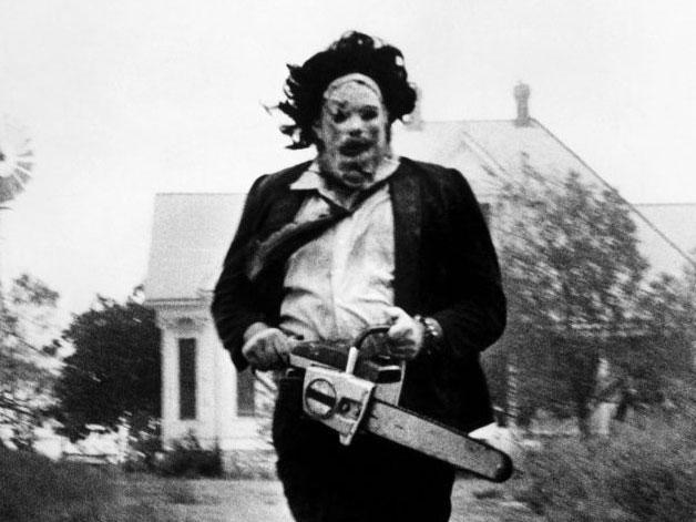 Gunnar Hansen as 'Leatherface' in The Texas Chain Saw Massacre