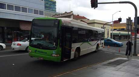 A broken down bus is causing traffic delays in the Ipswich CBD.
