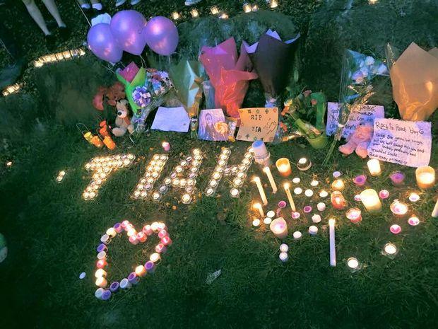 A beautiful tribute for Tiahleigh Palmer.            Photo: Amanda Callaghan Styles via Facebook