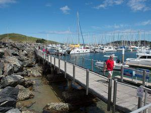 Marina boardwalk upgrade under way
