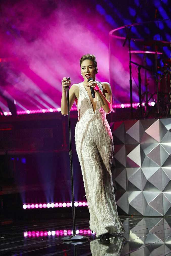 The X Factor Top 5 finalist Mahalia Simpson.