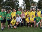 MPs kick a goal for Morcombe Foundation