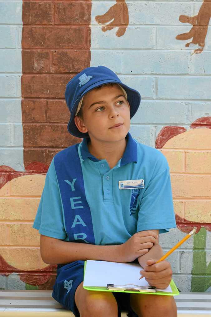 Tweed Heads Public School Year 6 school vice captain Zachary Morgan.