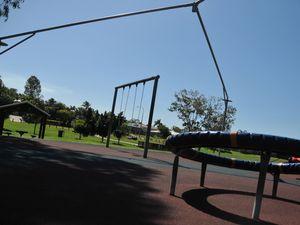 Vandals ruin playground shade cloth