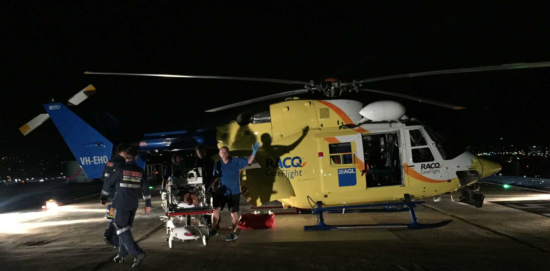 The Sunshine Coast CareFlight crew airlifted the 17-year-old to hospital