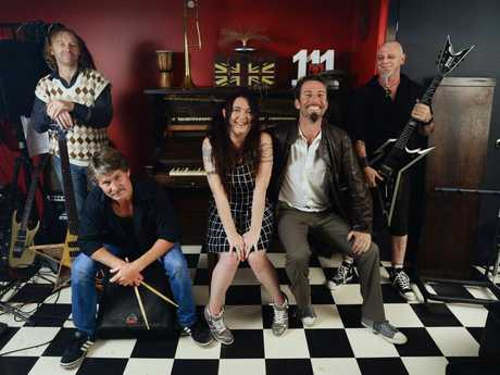 Bill Beverley (bass), Greg Eva (drums), Karen Beckett (vocals), Dave 'Bud' Beckett (vocals and rhythm guitar) and Troy Christiansen (lead guitar) from the band 1:1:1 will perform at Studio 188 on November 13. Photo: David Nielsen / The Queensland Times