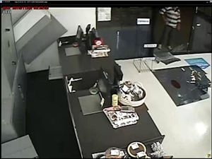 Witness on CCTV footage moments after smash and grab