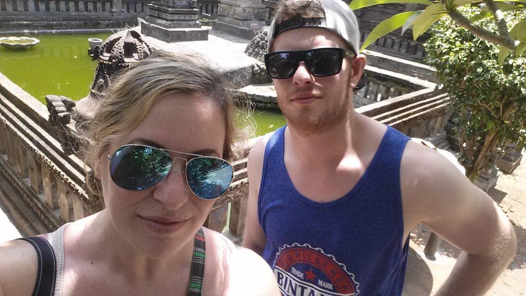 Daily Mercury reporter Janessa Ekert and her friend Daniel Rainbird are stuck in Bali due to the volcanic ash cloud.