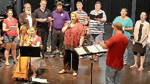 PREPARATIONS: The ensemble rehearsing