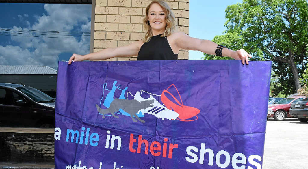 GOOD CAUSE: Kendell Davies supports charity 'A Mile in Their Shoes' through her pre-loved clothing market. Photo: Kathryn Cygan