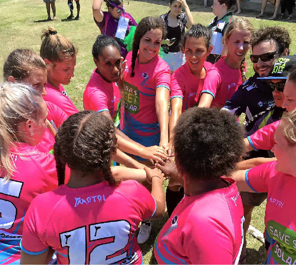 GO TEAM: The group of rugby 7s players from Bowen, Mackay and Whitsunday exceeded expectations at the Townsville 7s over the weekend.