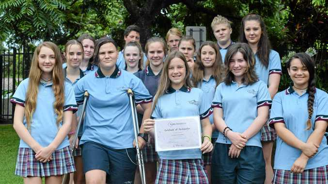 A-TEAM: Kingscliff High students took part in the Youth Frontiers program.