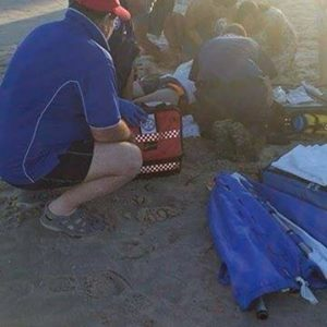 Surf Life Saving NSW posted this photo on their Facebook page following the shark attack.