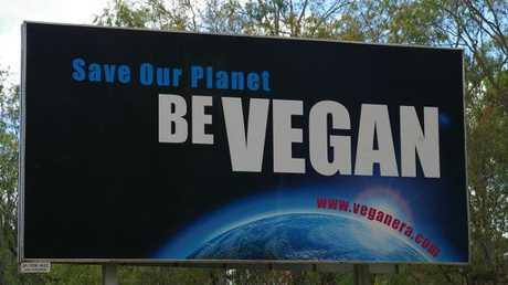 A new billboard on Toowoomba's outskirts.