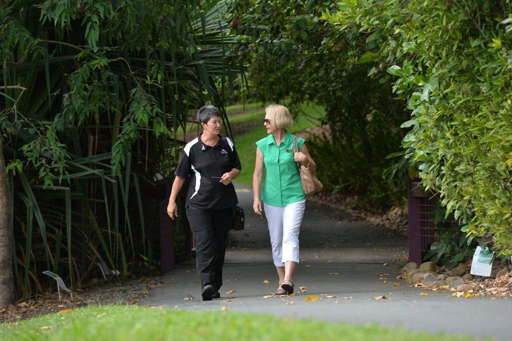 Wendy Logan left, and Jenny Banks walk the walk.
