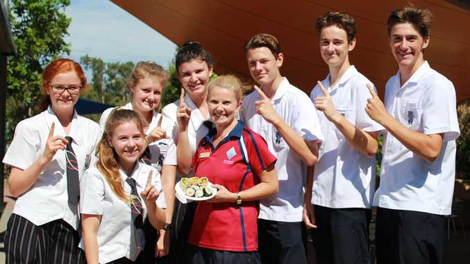 NUMBER ONE: St Andrews Anglican Colleges serves up a first class menu and they believe their SnAAC Shack and Anne-Marie Williams, Food Manager of their College's tuckshop is number one. Photo Contributed