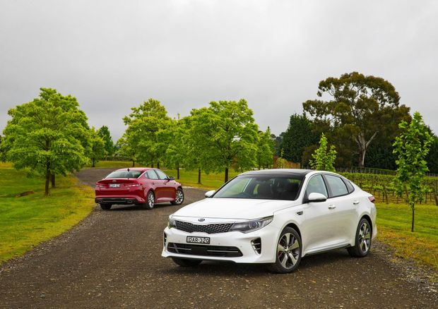OPTIMA PRIMED: Kia's updated Optima Si and GT are loaded enough to challenge and exceed some mid-size sedan rivals, with the GT scoring a new and powerful 2.0-litre turbo.